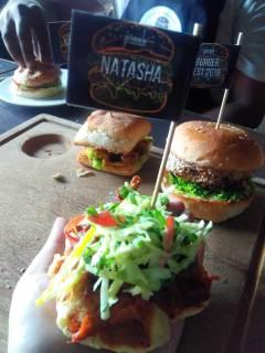 Belgian Waffle Pork Burger